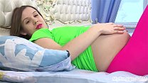 Pregnant Lina Fucks Herself with a Vibror! - 9Club.Top