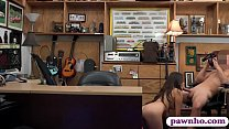 Pretty amateur babe drilled by pawn dude Image
