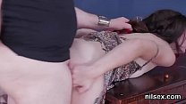 Foxy nympho is brought in anal assylum for uninhibited treatment