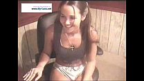 Sexy Victoria chatting and stripping on webcam
