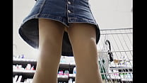 Upskirt at the shops