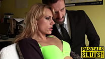 Sweet blonde MILF Brittany Bardot fingered hard... thumb