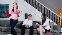 Mom supervises daughters first fuck with son