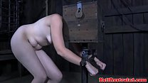 Restrained sub caned and dildo fucked video