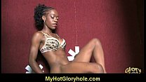 Interracial Glory Hole Blowjob 15