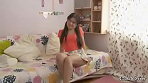 He Seduce Petite Step-Sister To Get First Fuck When Alone