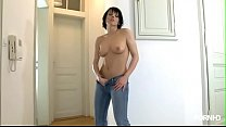 Sabine Mallory spreads her legs and shows her pussy