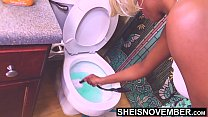 High Out Of My Fucking Mind, Why Am I Cleaning This Damn Toilet With My Huge Natural Saggy Titties Hanging Out, Ebony Gamer Msnovember on Sheisnovember Vorschaubild