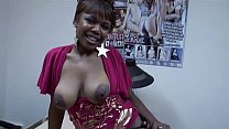 Older black ameur woman in boots with white - 9Club.Top
