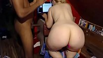 big black cock anal fucking big white booty on webcam 3