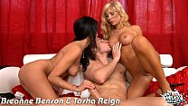 Busty Breanne Benson and Tasha Reign gets fucked