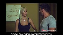 Slutty cock-hungry blonde Bibi Jones gets doubl...