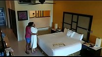 Spy camera caught husband wife having sex in hotel room video