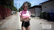 Pretty teen babe Scarlett Bloom gets used up by...