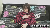Gay video Hot emo fellow Mikey Red has never done porn before!