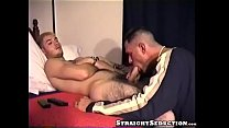 Gay producer licking and sucking tasty straight cock