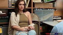 Teen caught shoplifting and her mom is called and on her way