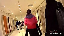 Adorable czech teenie was seduced in the mall and penetrated in pov