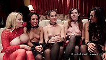 Fucking machine and orgy sex bdsm party