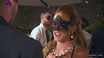 Cougar chicks horny as ever throw a masquerade party
