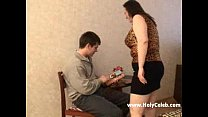 Mature BBW mother and her step son pornhub video