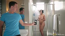 Brazzers - Step son catches (Reagan Foxx) in the shower video