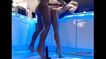 Perfect Tall Teen In Heels All Oiled Is Fucked Hard On Cam - Part 1