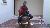 Mom In Rubber Thighboots 'Pissing' in Fountain C pt2 at goddessheelsonline.co.uk