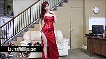 Big Tit redhead Lauren Phillips Plays with her ...