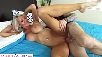Naughty America - MILF blondie, Emma Starr, needs someone to CUM inside her wet pussy