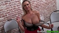 Busty blonde tugs bbc