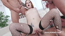 First Time DAP for Red Linx, 4on1 Balls Deep Anal, DAP, Gapes and Swallow GL087 صورة