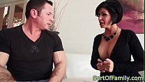 Stockinged step mom doggystyled in taboo trio  in taboo trio