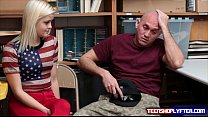 Gf blonde Madison Hart has to fuck security guard in front of bf pornhub video