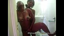 2 big booty African lezzies wash each ohters coochies in showere-shower.mp4-1