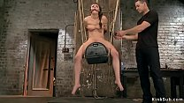 Slave with hook up her ass pussy toyed