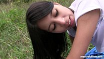 Skinny teen Paula gets fucked outdoors Thumbnail