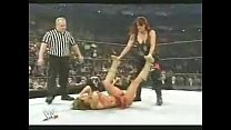 Lita Crotch Stomps Mickie James porn thumbnail