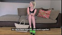 FakeAgentUK Threesome sex roulette on the casti...
