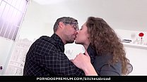 BITCHES ABROAD - Gorgeous Russian Sofia Curly eats cum in hot abroad fuck fest صورة