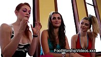 Three babes in kinky lesbian foot fetish thumbnail