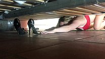 Stepmom stuck under the bed gets creampie from ... thumb