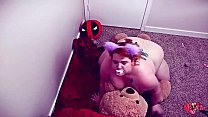 Pudgy Little Riding her Teddys big cock sucking...