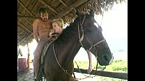 Anal horse back riding