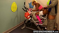 15515 4k Rough Painful Anal For Cute Black Spinner With Big Ass , Young Babe Msnovember Fucked By Old Coach Doggystyle In Public Gym Fucking Hard On Exercise Bike To Train Her Asshole HD Sheisnovember preview