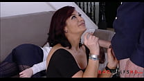 Hot MILF Step Mom Ryder Skye Loves Her Young Latino Step Sons Huge Cock صورة