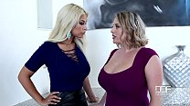 Sapphic Examination - Busty Babes Play With Their Big Tits Thumbnail