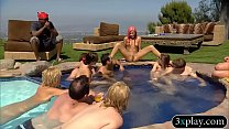 Horny swingers wild party and had oral sex by the pool thumbnail