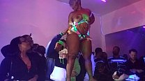 Cherokee D'ass Performs At QSL Halloween Strip Party in North Phila,Pa 10/31/15