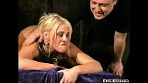 Bizarre toy slut Crystel Leis rough slavesex insertions and electro bdsm